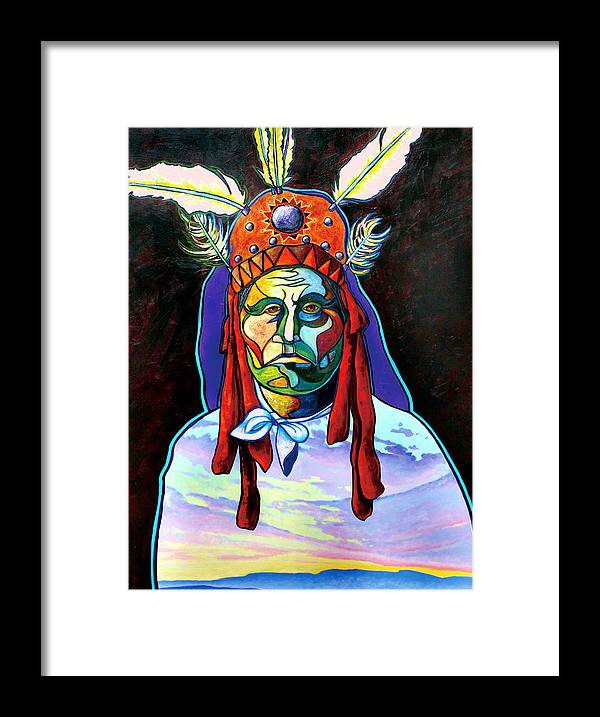 American Indian Framed Print featuring the painting Shamans Power by Joe Triano