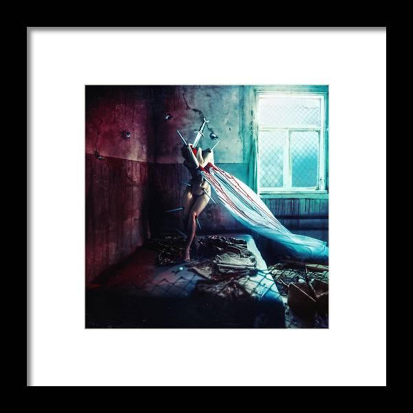 Shameful Framed Print featuring the digital art Shame by Mario Sanchez Nevado