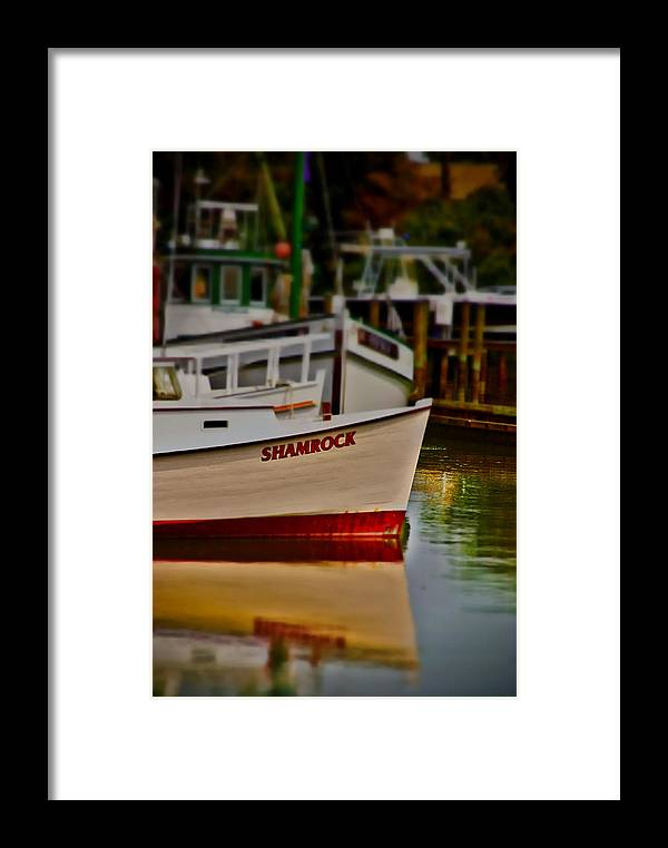 Boats Framed Print featuring the photograph Shamrock by Toby Horton