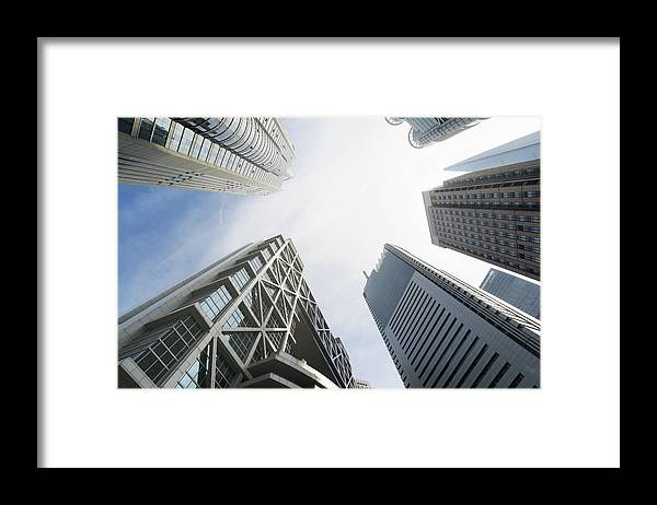 Downtown District Framed Print featuring the photograph Shanghai Stock Exchange,china - East by Zyxeos30
