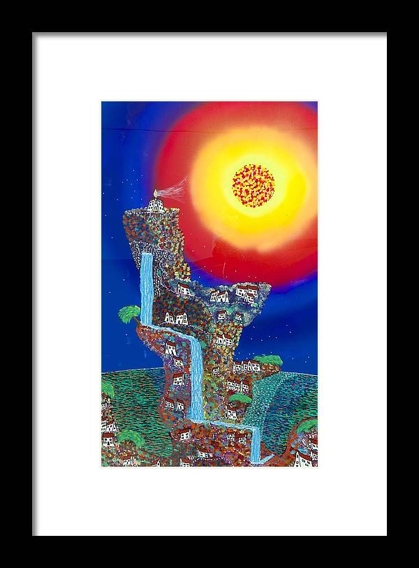 Acrylic Framed Print featuring the painting Shangri-la by Patrick OLeary