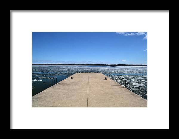 Abstract Framed Print featuring the photograph Shanty Bay Pier 2 by Lyle Crump
