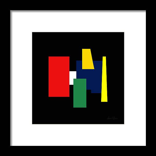 Shapes Framed Print featuring the digital art Shapes Colors Ill In 12x12 by Robert J Sadler