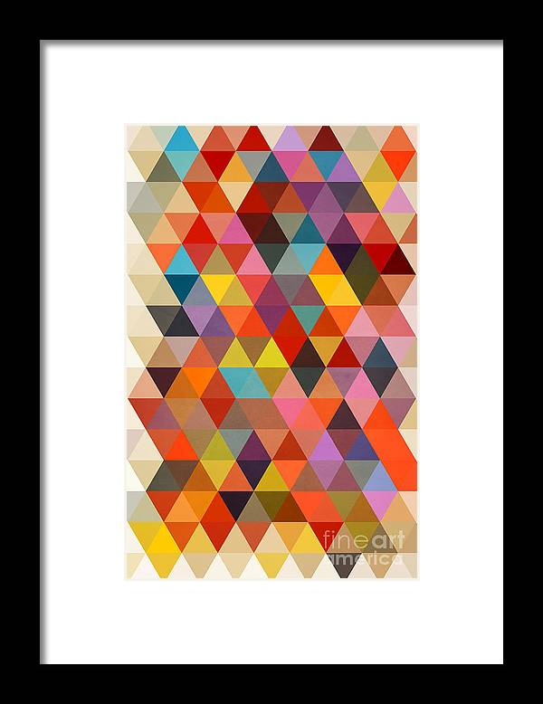Contemporary Framed Print featuring the painting Shapes by Mark Ashkenazi