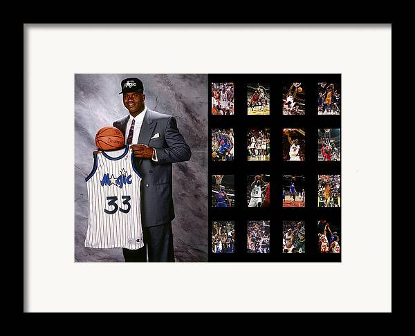 Shaquille O'neal Framed Print featuring the photograph Shaquille O'neal by Joe Hamilton
