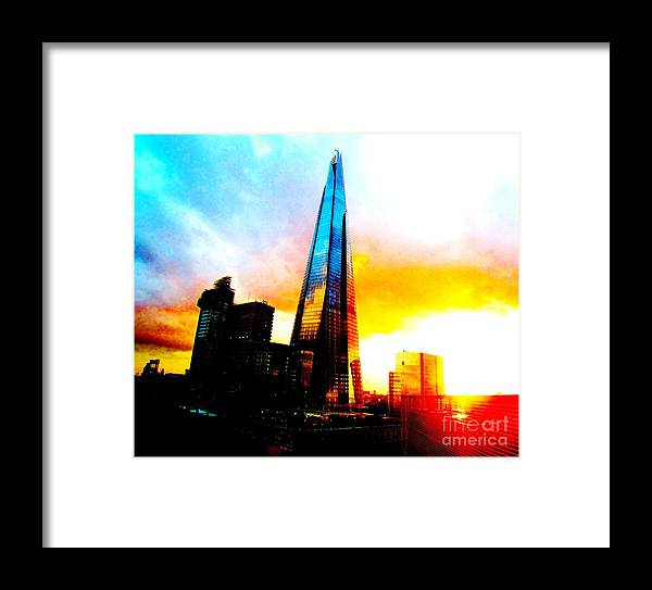 London Framed Print featuring the photograph Shard At Sunset by C Lythgo