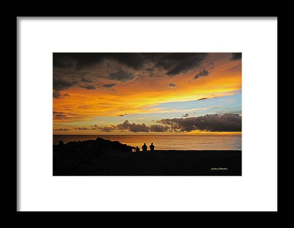 Sunset Framed Print featuring the photograph Sharing A Sky by Jonathan Whichard