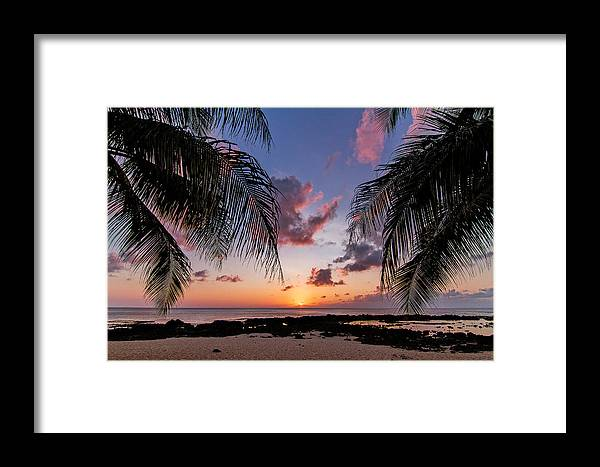 Wave Framed Print featuring the photograph Sharks Cove by Doug Falter