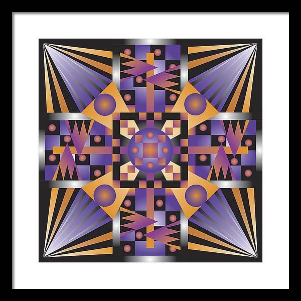 Optical Geometric Visual Digital Art Giclee Print Framed Print featuring the digital art Sharp Optical Art Q by James Sharp