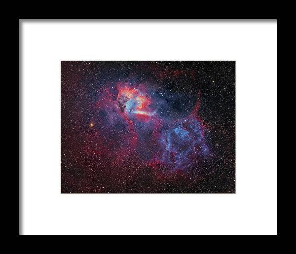 Horizontal Framed Print featuring the photograph Sharpless 2-132 Emission Nebula by Lorand Fenyes