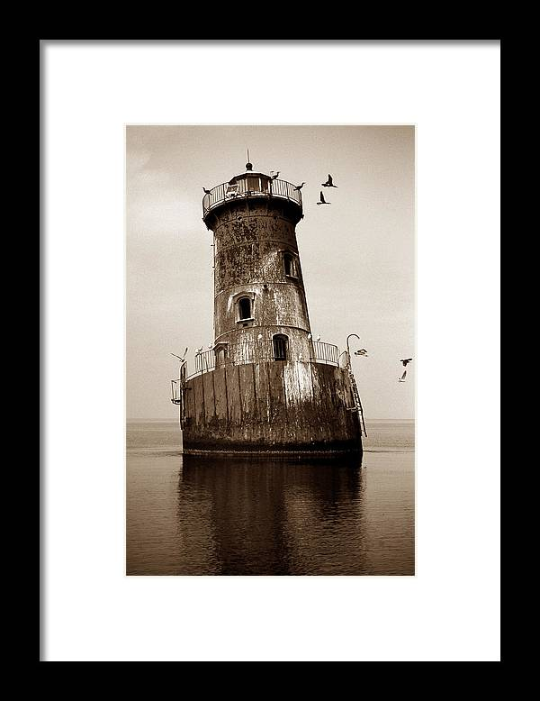 Lighthouse Framed Print featuring the photograph Sharps Island Lighthouse by Skip Willits