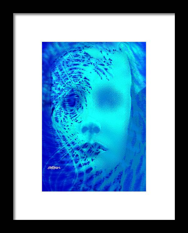 Shattered Doll Framed Print featuring the digital art Shattered Doll by Seth Weaver