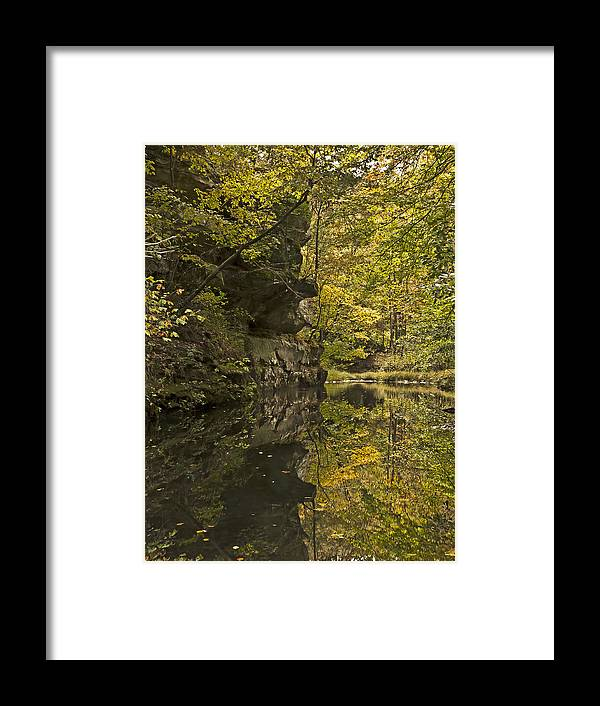 Fall Framed Print featuring the photograph Shawnee Fall Reflection by Edward Spengler