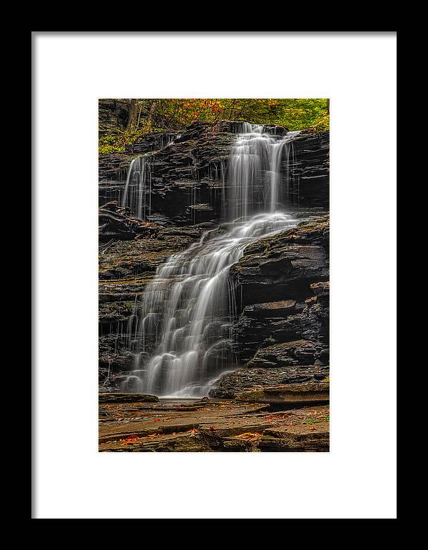 Shawnee Falls Framed Print featuring the photograph Shawnee Falls by Susan Candelario