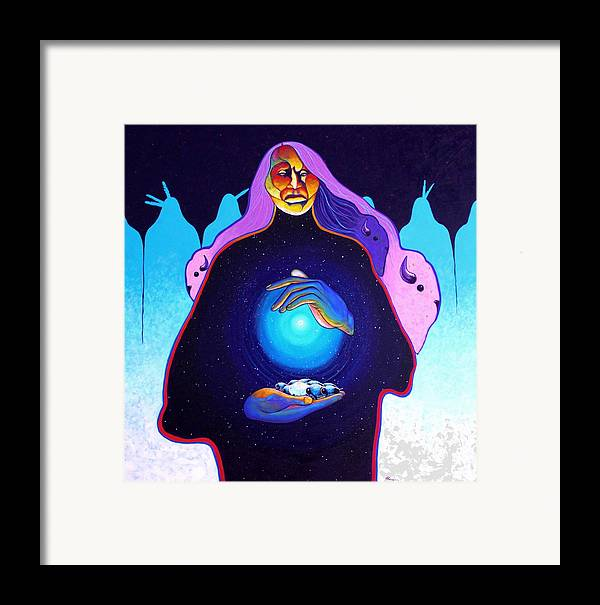 Spiritual Framed Print featuring the painting She Carries The Spirit by Joe Triano