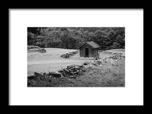 Shed Framed Print featuring the photograph Shed And Rock Wall by Vance Bell