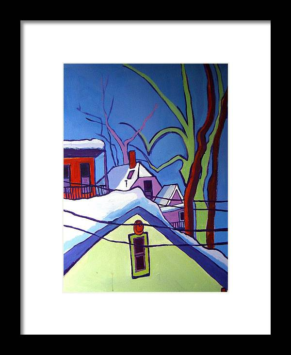 Buildings Framed Print featuring the painting Sheffield Winter by Debra Bretton Robinson