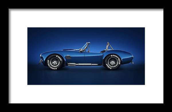 Transportation Framed Print featuring the digital art Shelby Cobra 427 - Water Snake by Marc Orphanos