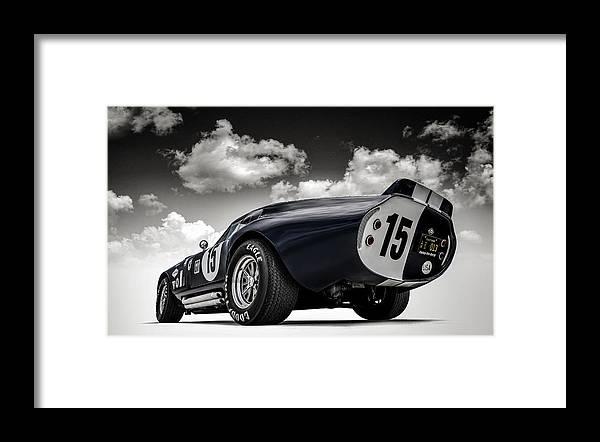 Shelby Framed Print featuring the digital art Shelby Daytona by Douglas Pittman