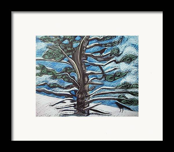 Maine Framed Print featuring the drawing Shelter by Grace Keown