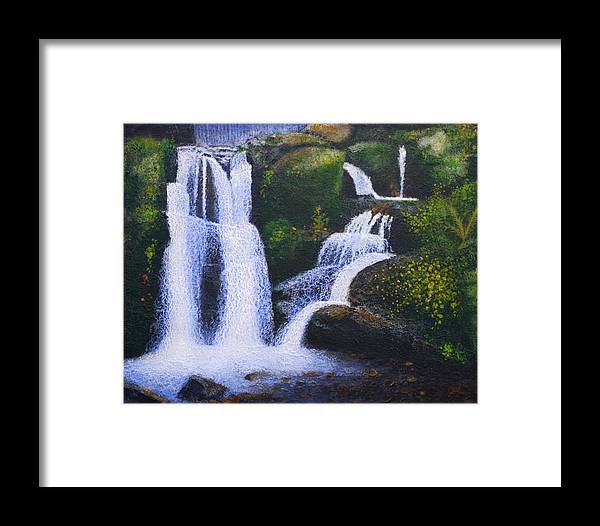 Acrylic Framed Print featuring the painting Shenandoah Valley Falls by Bill Brown