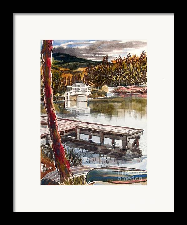 Shepherd Mountain Lake In Twilight Framed Print featuring the painting Shepherd Mountain Lake In Twilight by Kip DeVore