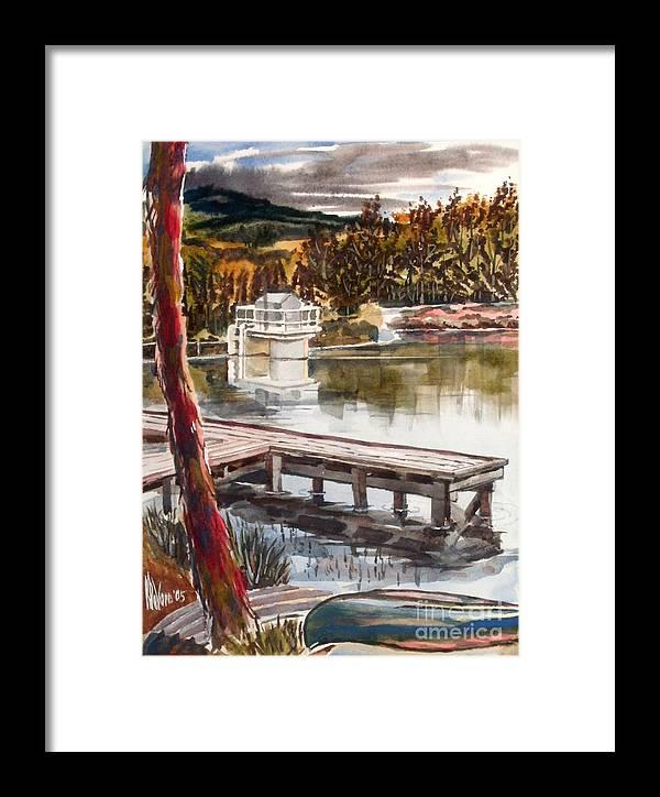 Shepherd Mountain Lake In Twilight Framed Print featuring the painting Shepherd Mountain Lake In Twilight by Kip DeVore
