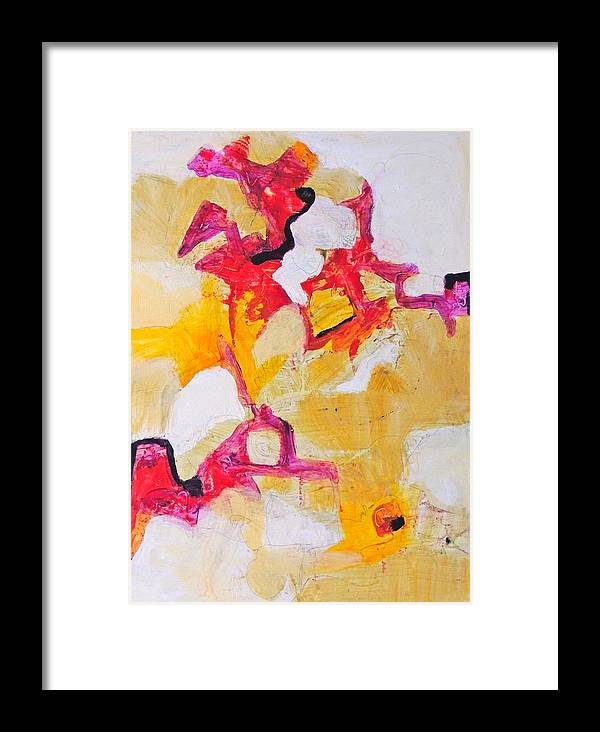 Abstract Framed Print featuring the painting Sherbet Mountain by Jgyoungmd Aka John G Young MD