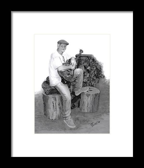 Musician Framed Print featuring the painting Sherman Dillon by Ferrel Cordle