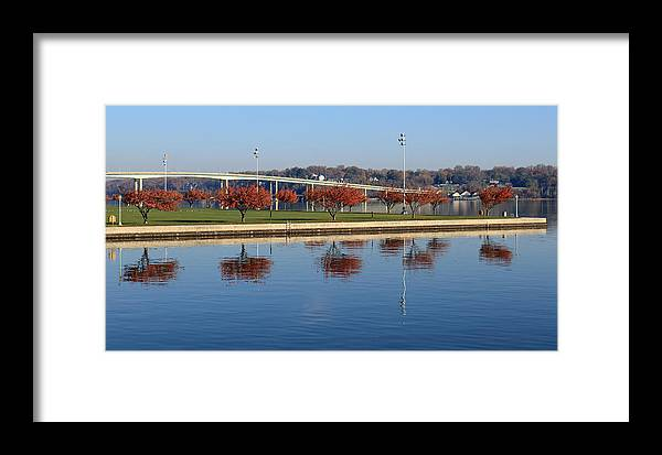 Trees Framed Print featuring the photograph Sherman Field Reflections by Mary Haber