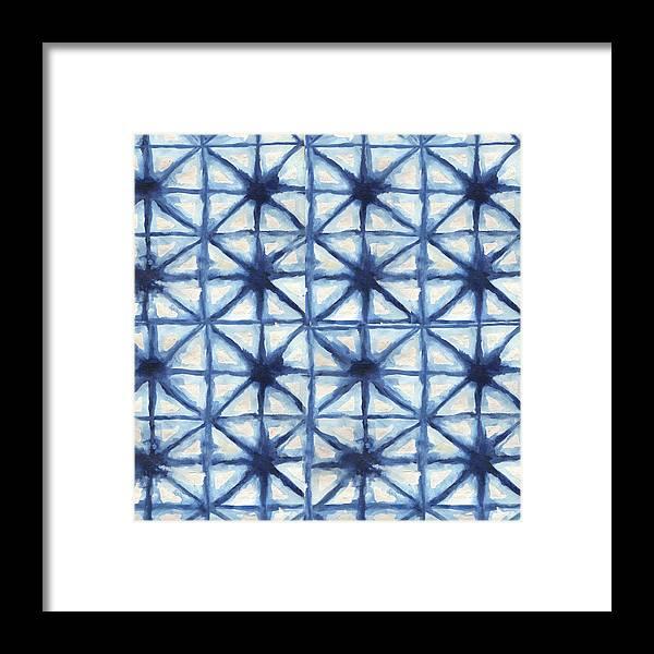 Shibori Framed Print featuring the digital art Shibori Iv by Elizabeth Medley