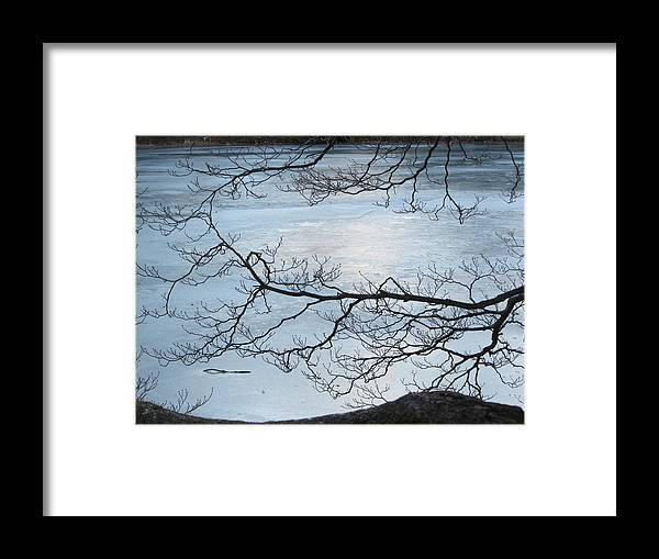 Ice Framed Print featuring the photograph Shimmering Ice by Deborah Flusberg