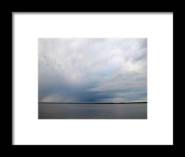 Sky Framed Print featuring the photograph Shimmering Sky by Elizabeth Hardie