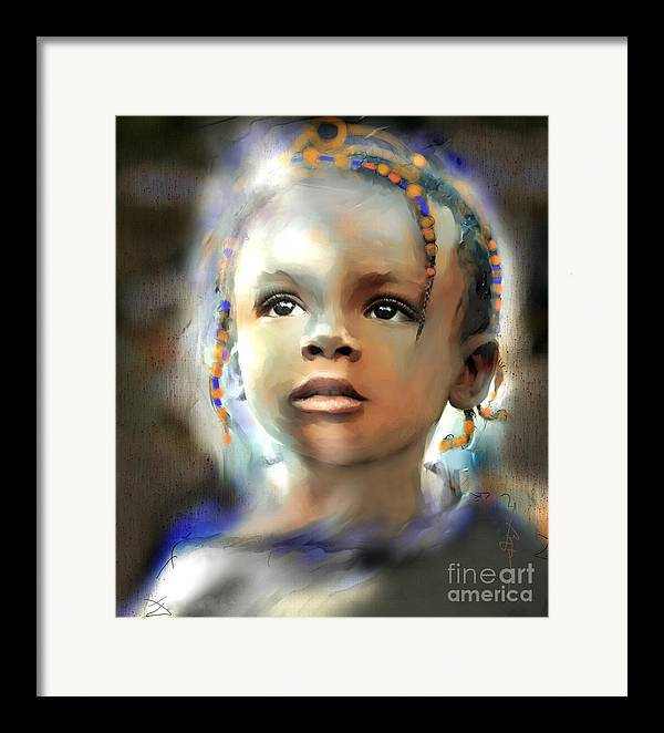 Portraits Framed Print featuring the painting Shine On Me by Bob Salo