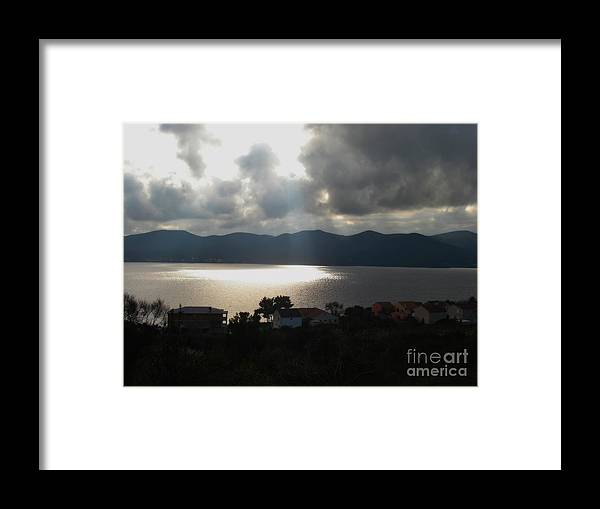 Viganj Framed Print featuring the photograph Shine your light on me by De La Rosa Concert Photography