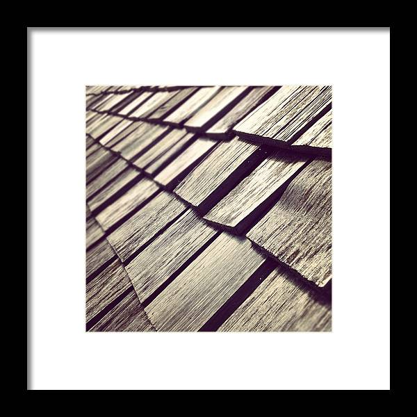Architecture Framed Print featuring the photograph Shingles by Christy Beckwith