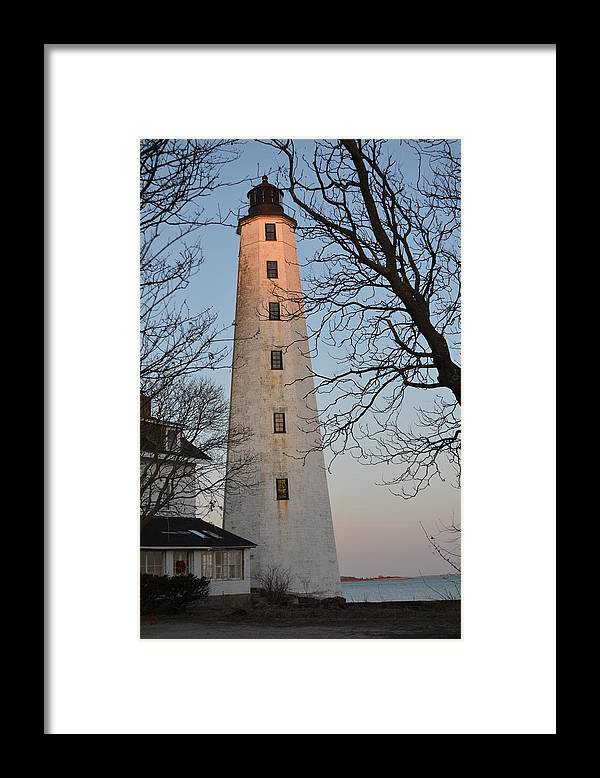 Harbor Lighthouse Framed Print featuring the photograph Shining on the Harbor by Jessica Cruz
