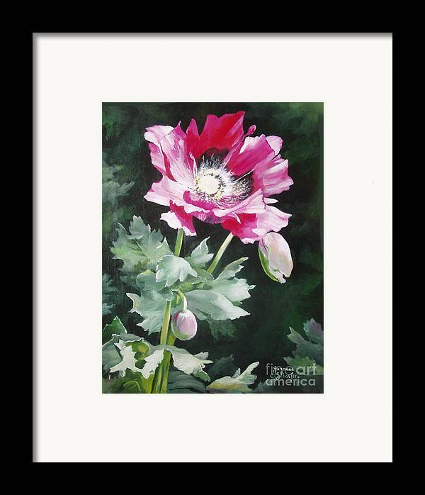 Poppy Framed Print featuring the painting Shining Star Poppy by Suzanne Schaefer