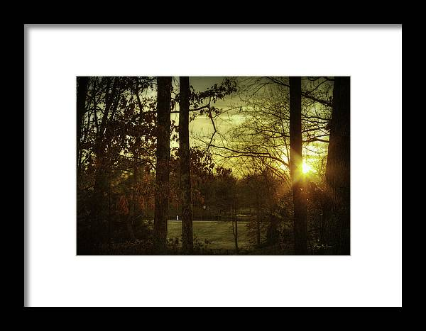 Lake Framed Print featuring the photograph Shining Through by Barry Jones