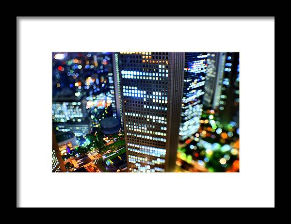 Built Structure Framed Print featuring the photograph Shinjuku by Takashi Kitajima