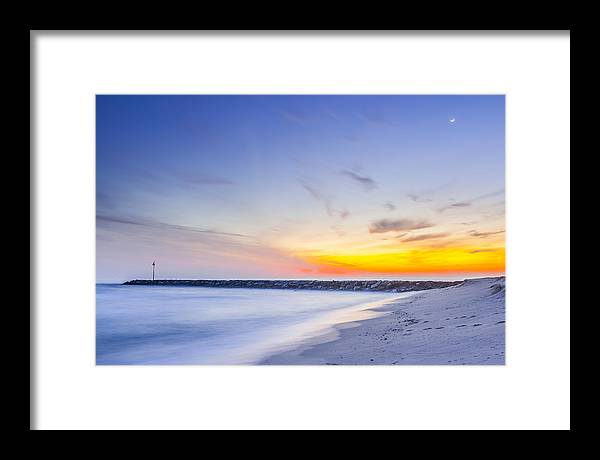 Framed Print featuring the photograph Shinnecock Inlet Sunset by Ryan Moore