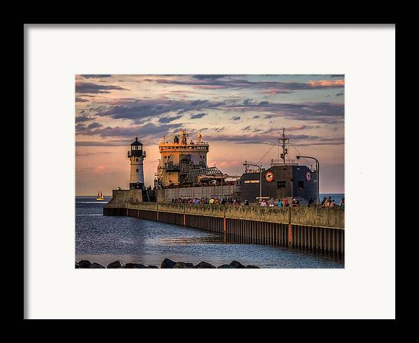 Duluth Framed Print featuring the photograph Ship Ahoy by Mary Amerman