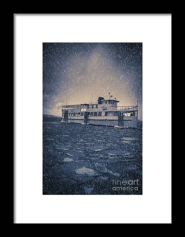 Vermont Framed Print featuring the photograph Ship In A Snowstorm by Edward Fielding