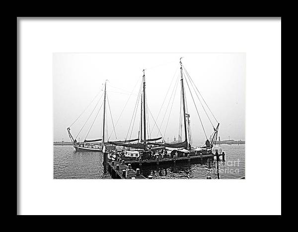 Ship Framed Print featuring the digital art Ships Of Volendram by Pravine Chester