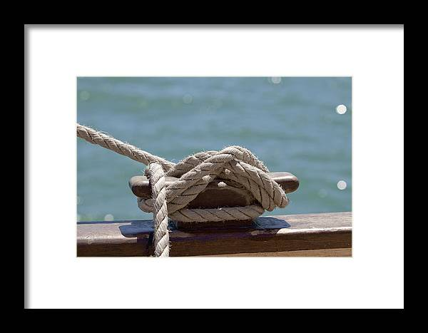 Ship Framed Print featuring the photograph Ships Rigging I by Michelle Wrighton