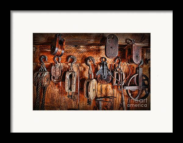 Fishing Tackle Framed Print featuring the photograph Ship's Rigging by Lee Dos Santos