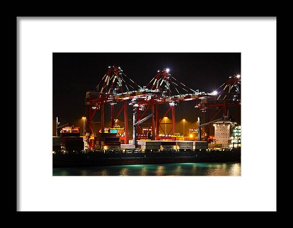 Callao Framed Print featuring the photograph Shipyards Callao Port Lima Peru by Kurt Van Wagner
