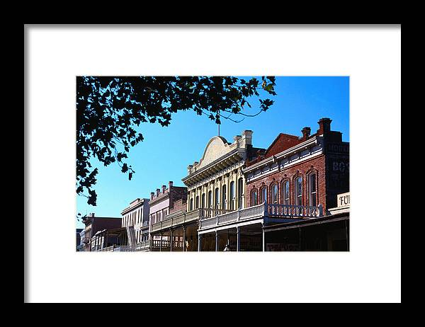 California Framed Print featuring the photograph Shop Fronts In Old Sacramento - by Rick Gerharter