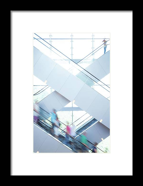 Buy Framed Print featuring the photograph Shopers In Motion by Uschools