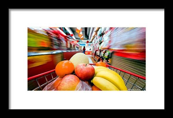 Apples Framed Print featuring the digital art Shopping 1 by Gabriel T Toro